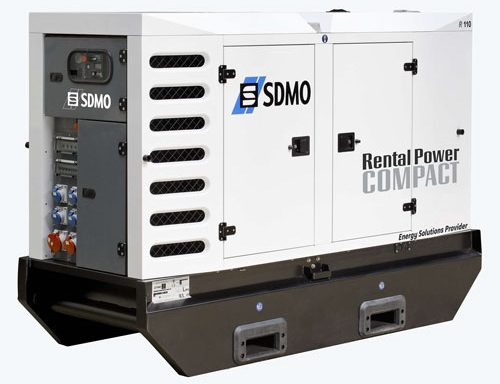 GROUPE ELECTROGENE INSONORISE SDMO 110 KVA